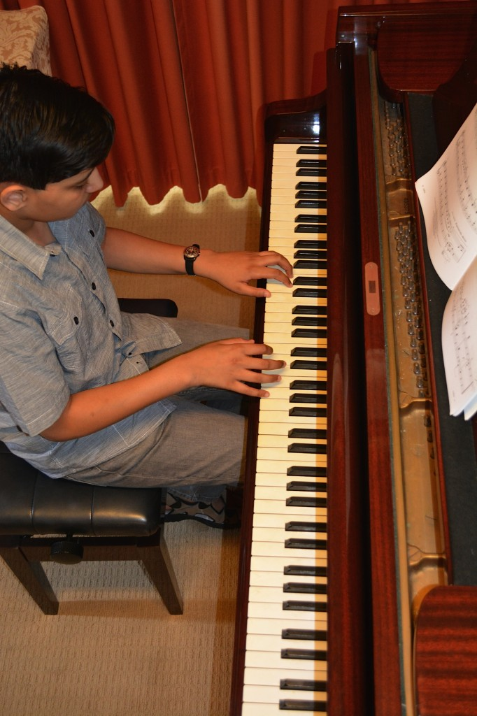 Azeem advanced piano student