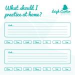 Piano Practice Sheet